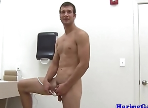 College twinks assfucking after showering