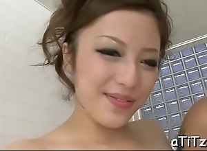 Vigorous japanese titty have a passion