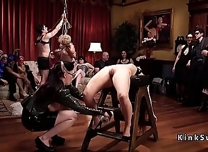 Bdsm orgy federate with latex and spanking