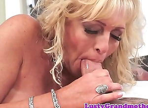Massage loving granny gets fucked hard