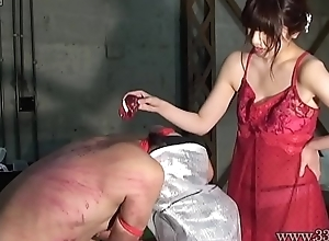 Japanese Dominatrix Asami Whipping and Hot Candle Wax