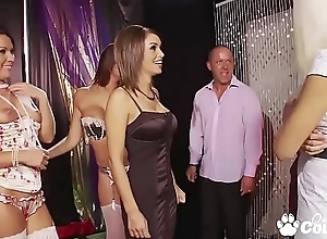 Dropped Orgy Breaks Out Convenient A Strip Club With Gemma Massey