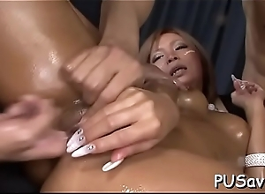 Finger fucking bitch enjoys herself
