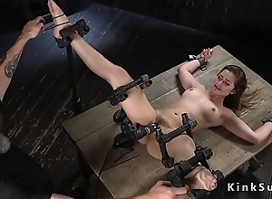 Slave beauty gets positive ass paddled