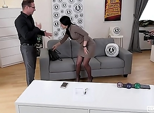 EXPOSED CASTING - Slovak babe Lucia Denville takes broad in the beam cock in naughty audition
