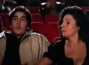 Milf jerks not present young guy at the theater