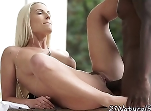 Amazing model widens her legs for a bbc