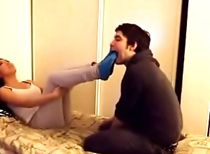 Asian inclusive gets her socks and feet worshipped - watch more on xfetish.net
