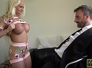 Brit MILF dominated with an increment of fucked roughly by big dick dom